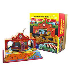 Lindert Stress Tue so als ob du spielst Aufziehbare Spielsachen Quadratisch Bus Metal