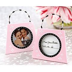 Bridesmaids / Bachelorette Wedding décor Pink mini Photo Frame Table Place card holder