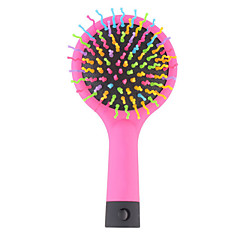 2016 Hot Sele 1pc Rainbow Volume Magic Detangler Hair Curl Straight Massage Comb Brush Styling Tools With Mirro
