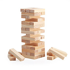 Puzzles Brettspiel Holzblock Stapelturm Bausteine Spielzeug zum Selbermachen Quadratisch 48