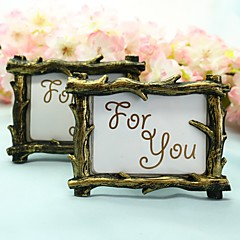Rustic Tree Branch Place Card Picture Frame Favors Wedding Dcor
