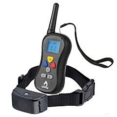 honden blafhalsband / Hondentrainingshalsbanden Anti-blaffen / Waterdicht / Afstandsbediening / LCD / 300M / Trilling Effen Zwart Nylon