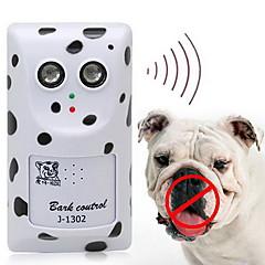 Hond Elektronisch Gedragshulpmiddelen Ultrasonisch Draadloos anti Bark wit Kunststof