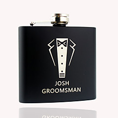 Personalized Stainless Steel  Black Flask 5 oz  Hip Flasks