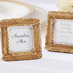 Gold Feather Square Frame Unique Indian Wedding Decor