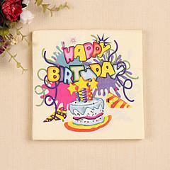 100% virgin pulp 20pcs Birthday Cake Napkins