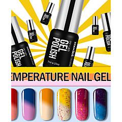 Nail Polish UV Gel 7ml 6 Losweken / Schitteren / UV Kleurgel / Schitterend / Gelatine / Neutraal Losweken Long Lasting