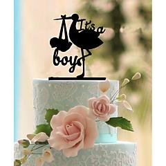 Decoración de Pasteles No personalizado Monograma Acrílico Matrimonio Flores Negro Tema Clásico 1 Caja de regalo