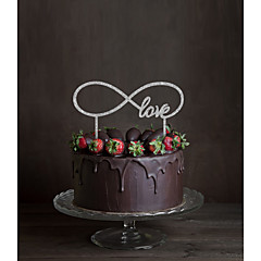 케이크 장식 비 개인화 모노그램 아크릴 웨딩 꽃 블랙 클래식 테마 1 선물 상자