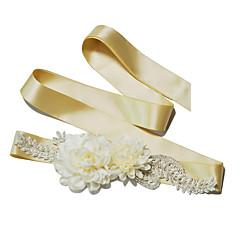 Saten Vjenčanje / Zabava / večer / Svakodnevica Pojas-Perlice / Cvjetni print / Imitacija bisera Žene 98 ½ u (250cm)Perlice / Cvjetni