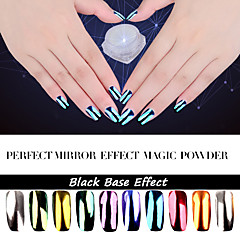 2g Perfect Mirror Powder Effect Glitter Dust Magic Shimmer Nail Art Powder Decoration Sequins Chrome Pigment Glitters