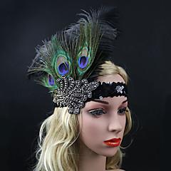 Vrouwen Veren / Bergkristal Helm-Speciale gelegenheden Bloemen 1 Stuk