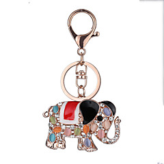 유럽과 미국의 새로운 사실적인 기타 열쇠 고리 코끼리 열쇠 고리 가방 자동차 키 펜던트 발렌타인 데이 선물 공장 직접 판매
