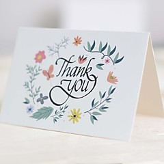 A reply card 25 pieces Top Fold Wedding InvitationsMother's Day Cards / Thank You Cards / Response Cards / Baby Shower Cards / Invitations Sets