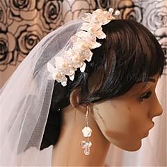 Femme Alliage Imitation de perle Filet Casque-Mariage Voile de cage à oiseaux 1 Pièce