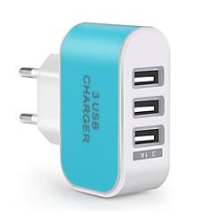 急速充電 / マルチポート ポータブル充電器 EUプラグ 3 USBポート 充電器のみ 携帯電話の場合(5V , 3.1A)