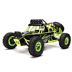 Carroça WLToys 12428 1:12 Electrico Escovado RC Car 2.4G Verde Pronto a usar