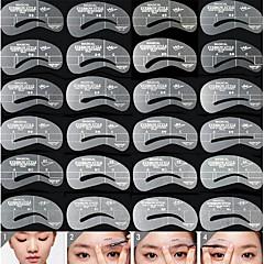 Stencil de Sobrancelha Silicone 24pcs Others 6*5*0.5 Normal Transparentes