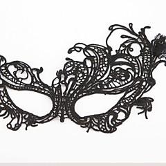 マスク コスプレ イベント/ホリデー ハロウィーンコスチューム ブラック ゼブラプリント / レース マスク ハロウィーン 男女兼用