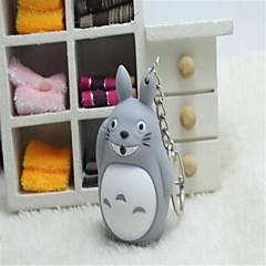 Totoro levou luminosa dos desenhos animados enfeites de voz anel chave criativo