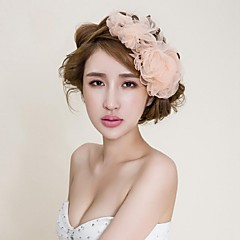 Women's Fabric Headpiece-Wedding / Special Occasion / Casual / Outdoor Flowers / Head Chain / Hair Pin / Hair Tool 1 Piece