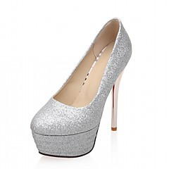 Women's Heels Spring Fall Others Leatherette Office & Career Dress Casual Stiletto Heel Red Silver Others