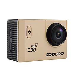 C30 Cámara acción / Cámara deporte 16MP 4608 x 3456 WIFI / Impermeable / Ajustable / Wireless / Gran Angular 30fps No ± 2 EV 2 CMOS 32 GB