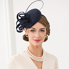 Women's Feather / Wool Headpiece-Wedding / Special Occasion / Casual Fascinators / Hats 1 Piece