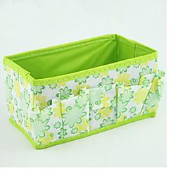 Solid Nylon Waterproof Green Normal 1 Cosmetic Bag