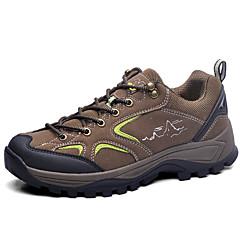 נעלי ספורט נעלי טיולי הרים נעלי הרים לגברים נגד החלקה Anti-Shake ניתן ללבישה נושם תומך זיעה טבע סוליה נמוכה בד עור נובוק טיפוס צעידה