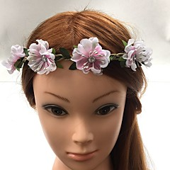 Women's Basketwork Fabric Headpiece-Wedding Special Occasion Headbands Flowers Hair Tie 1 Piece