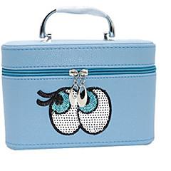 אחסון איפור Cosmetic Box / אחסון איפור פוליאסטר אחיד Quadrate 21.5x15x16.5cm תפוז / לבן / ורד