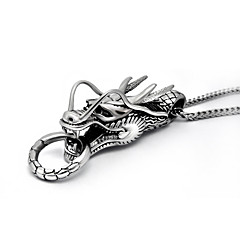 Men's Pendant Necklaces Necklace Titanium Steel Animal Design Silver Jewelry Wedding Party Daily 1pc