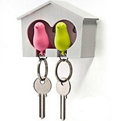 Key Chain 鳥 かわいい ホイッスル 虹色 ABS