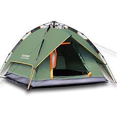 """2 אנשים אוהל משולש אוהל אוטומטי חדר אחד קמפינג אוהל 2000-3000 מ""""מ שמור על חום הגוף עמיד ללחות מאוורר היטב ייבוש מהיר עמיד מוגן מגשם נשימה-"""