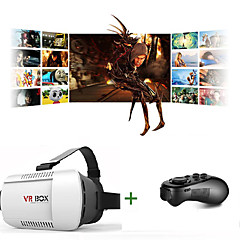 óculos 3d vr 1,0 versão óculos de realidade virtual de jogos filme de vídeo fone de ouvido com controle remoto Bluetooth