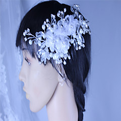 Mujer Diamantes Sintéticos Perla Artificial Gasa Celada-Boda Ocasión especial Flores 1 Pieza