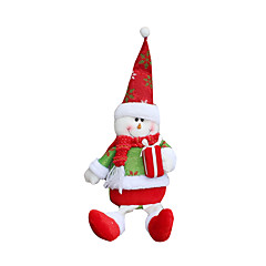 Božićne igračke Poklon vrećice Blagdanske potrpštine 2Pcs Božić Tekstil Srebrna Siva