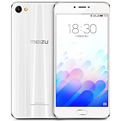 "MEIZU X 2.5D 5.5 "" Android 6.0 טלפון חכם 4G (SIM כפול Octa Core 12 MP 3GB + 32 GB מוזהב לבן)"