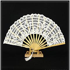 "Fans and parasols-# Piece/Set Hand Fans White Black 11"" high × 19 1/2"" in diameter (28cm high×50cm in diameter)11"" high × 2"" in diameter"