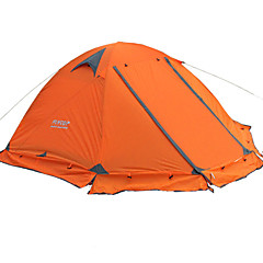 FLYTOP 2 persons Tent Double One Room Camping Tent >3000mm Oxford PVCMoistureproof/Moisture Permeability Breathability Rain-Proof