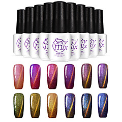 Gel UV para esmalte de uñas 7ml 1 Brillante Brillo y Brillantina Luz Neutro Empapa de Larga Duración