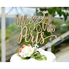 קישוטים לעוגה מותאם אישית נייר כרטיס חתונה צהוב נושא קלאסי נושא כפרי נושא וינטג 1 תיק פולי