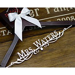 Personalized Wedding Hanger with Bride or Groom Name Wedding Dress Hanger Shower Gift