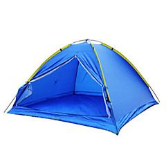 3-4人 テント シングル 1つのルーム キャンプテント 炭素繊維 PUレザー 防水 携帯用 防風 防塵 抗虫 折り畳み式 超軽量(UL) 蚊・虫除け 通気性-釣り ビーチ キャンピング 旅行 屋外-