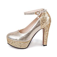 Feminino-SaltosSalto Grosso-Dourado Prata-Gliter-Casamento Casual Festas & Noite
