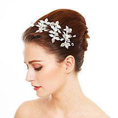 Women's Alloy Leatherette Headpiece-Wedding Special Occasion Hair Pin 3 Pieces