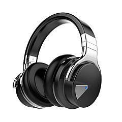 E-7 Active Noise Cancelling Wireless Bluetooth Over-ear Stereo Headphones with Microphone and Volume Control