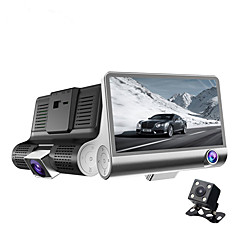 New Three-way Camera 4.0 Inch Full 1080P HD Dual Lens Adjustable 170 Degree Wide-angle Car DVR Night Vision Recorder