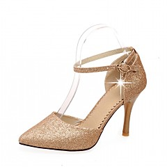 Kényelmes Újdonság-Stiletto-Női cipő-Magassarkúak-Esküvői Irodai Ruha Alkalmi Party és Estélyi-Szintetikus PU-Kék Piros Arany